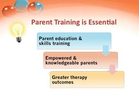 train parents, online autism workshop about speech therapy
